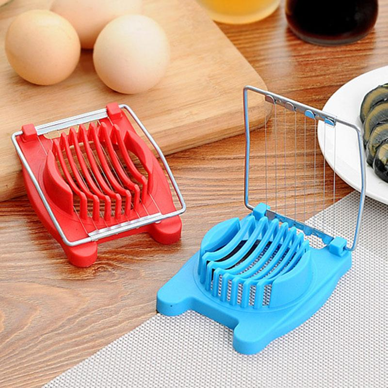 Multifunction Stainless Steel Wire Egg Slicer Cutter Mold Flower Edges Gadgets Chopper Peeler Tool (Random Color )