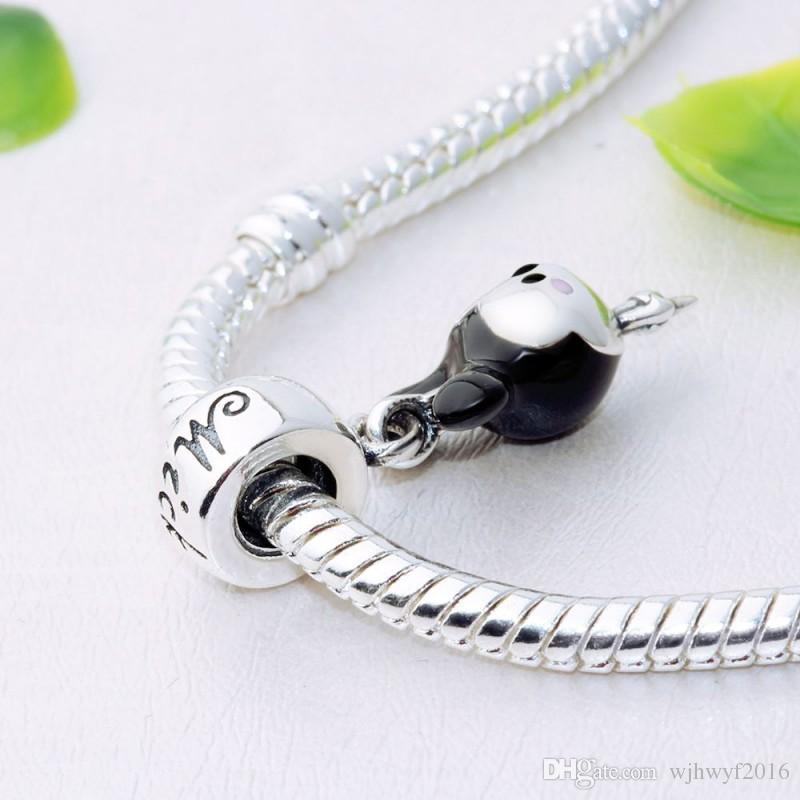 Beads & Jewelry Making Fit Original Pandora Charm Bracelet Pulsera 925 Sterling Silver Animal Monkey Enamel Bead Making For Women Jewelry Berloque 2019 Jewelry & Accessories