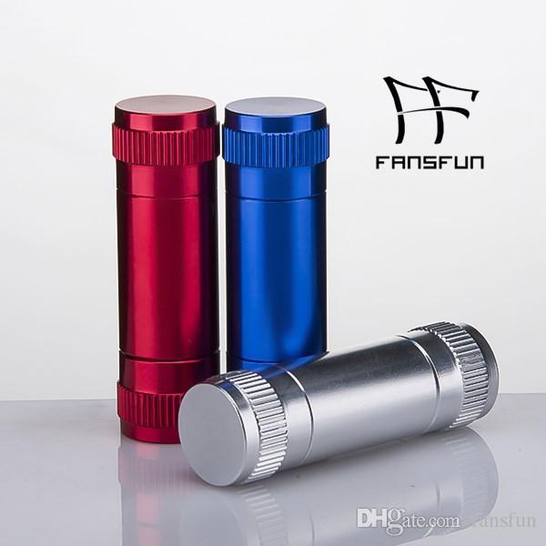 Küçük Alüminyum Polen Basın Kompresörü Kuru Ot Baskı Metal Boru Tütün Spice Presser Kırmızı renk Sigara Aksesuarları DHL