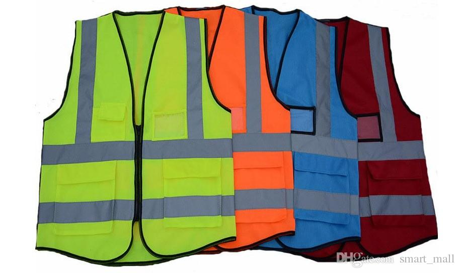 Free freight High Visibility Clothing Clothing Safety Reflective Vest Night Work Security Traffic Cycling LLFA
