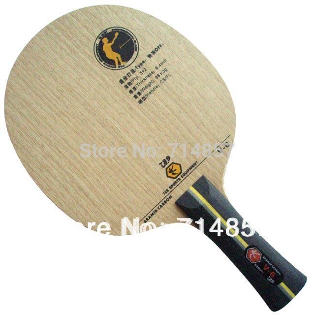 RITC 729 Friendship V-6 (V6, V 6) hoja de tenis de mesa / pingpong