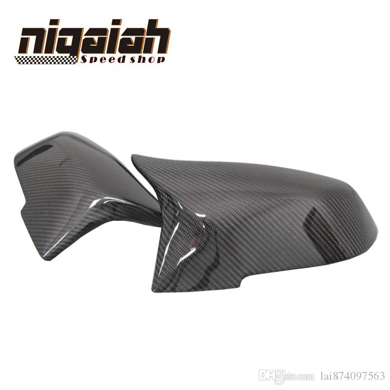 For 2014-2016 BMW 5 6 7 Series F10 F06 F12 F13 F01 F02 M3 M4 Look Carbon Fiber Rear View Mirror Cover & Gloss black 1:1 replaced