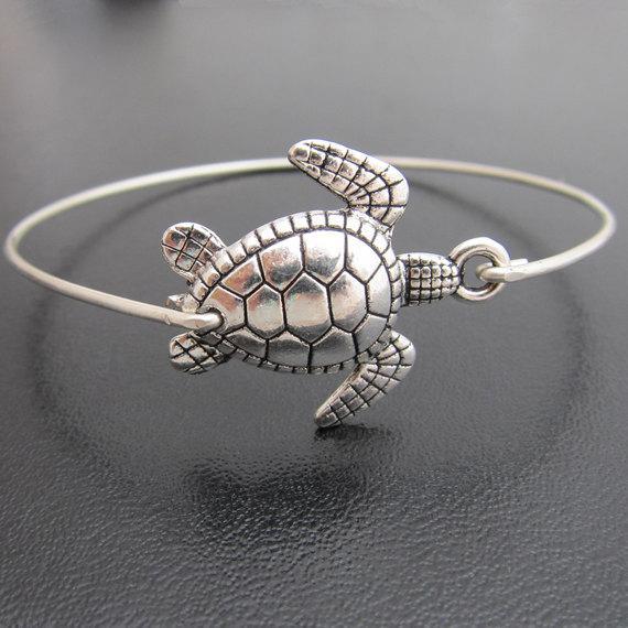 Kadınlar Gümüş Renk YP2428 için güzel Deniz Kaplumbağası Bileklik Yeni Geliş Moda Alaşım Hayvan Bilezikler Takı