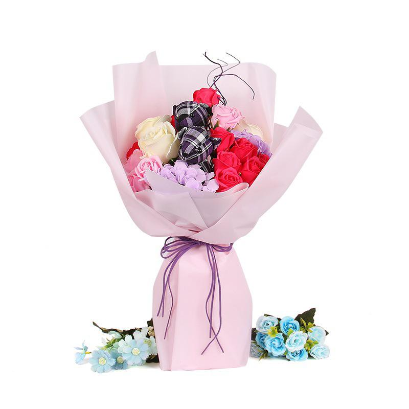 Plastic Film Floral Cellophane Flower Wrapping Paper Waterproof Bouquet Crafts Paper Florist Supplies Solid Color Cheap Packaging Jewelry Packaging