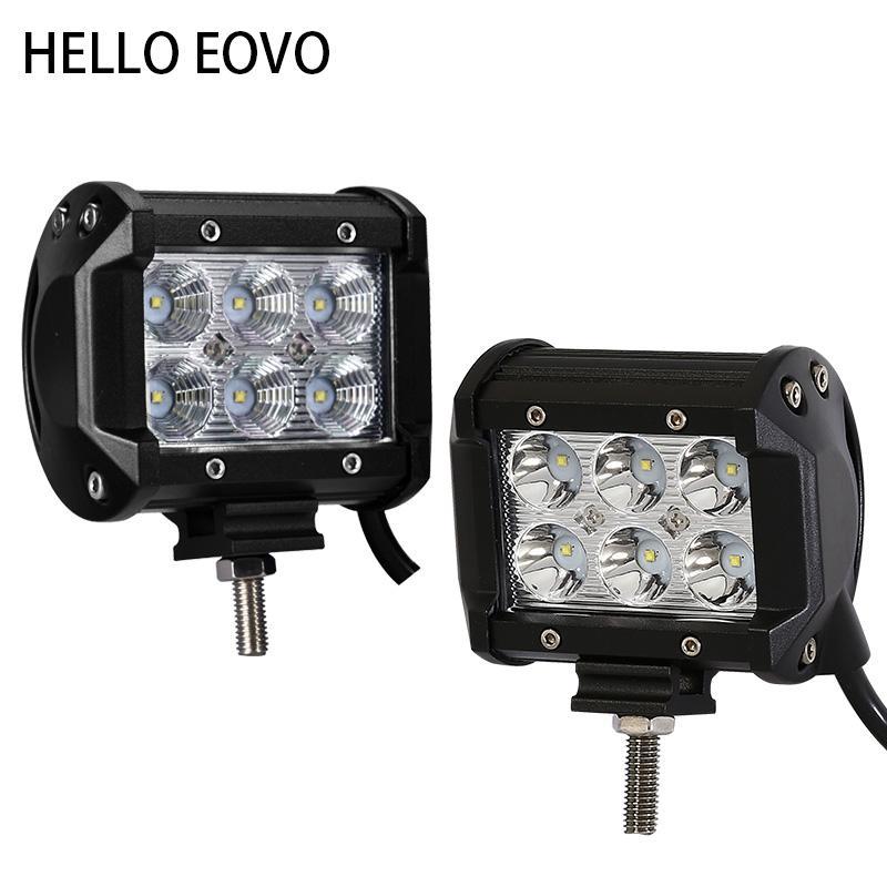 HALLO EOVO 4 Zoll 18W LED Arbeitslichtleiste für Anzeigen Motorrad Fahren Offroad Boot Auto Traktor LKW 4x4 SUV ATV 12V