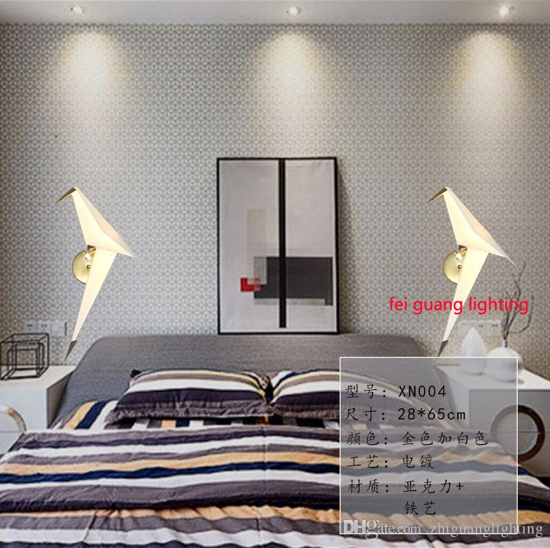 2019 New Design Crane Wall Lamps Bedroom Headboard Bedside Lamp Banheiro  LED Living Room Light Wall Sconce Lampe Deco From Zhiguanglighting, $95.48  | ...