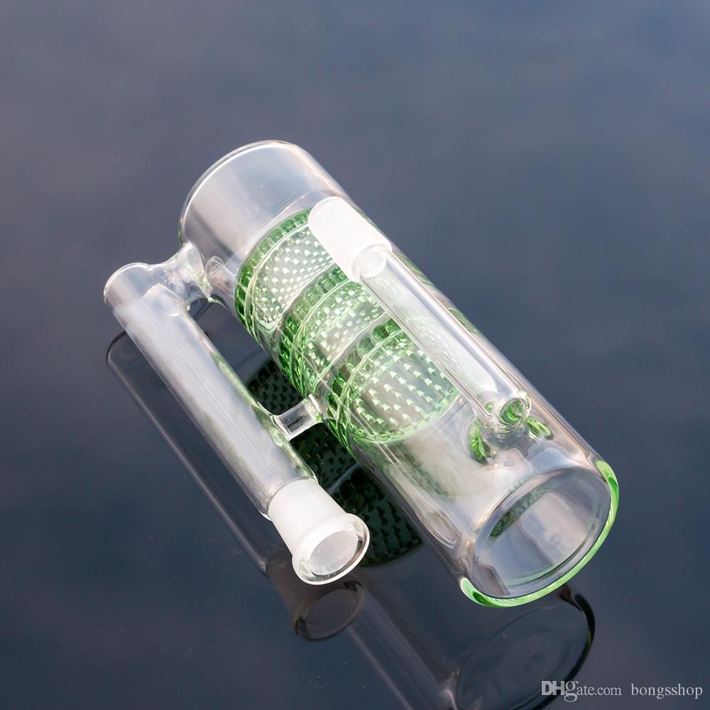 유리 애쉬 포수 봉 트리 Ashcatcher Recycler Water Pipes Bongs Hookahs 14mm 18.8 mm 큰 무거운 DAB 오일 리그 흡연 액세서리