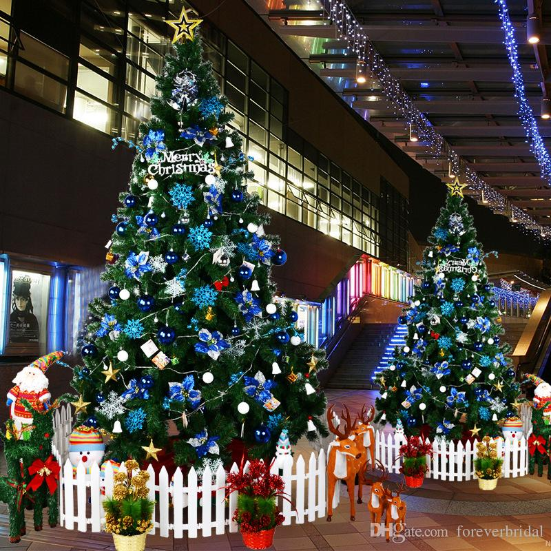 Tall Christmas Tree Decorating Ideas.2019 2018 Winter Luxury 2 1 Meter Tall Christmas Tree With Many Decorations And Light Separate Tree And Ornaments With Two Packages From