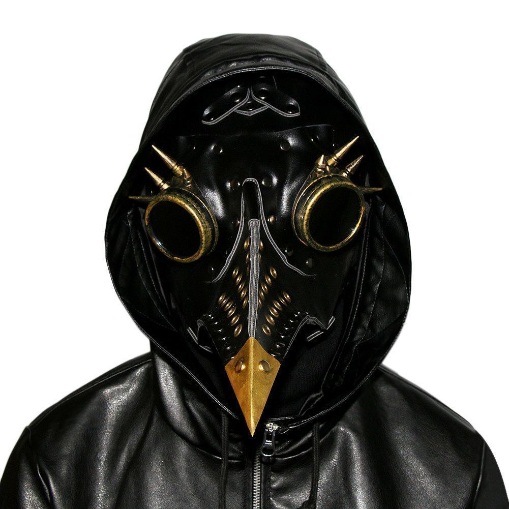 Einzigartiges Design Hand Made Leder Pest Arzt Death Mask Vogel Schnabel Spike Steampunk Steam Punk Gothic Halloween Cosplay