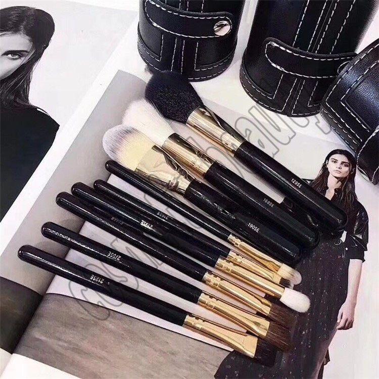2018 HOT ماكياج فرشاة برميل زجاجة 9 قطعة أدوات ماكياج فرشاة سوداء فرشاة برميل زجاجة شحن مجاني