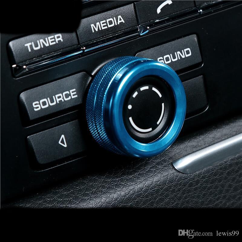 Chrome interior de automóviles Aire acondicionado Mandos de audio decorativas círculo anillos de ajuste de la cubierta para Porsche Macan Cayenne Panamera Car Styling Accesorios