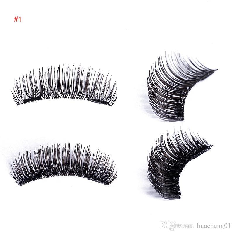 Magnetic Eyelashes 3D Handmade Reusable Magnet False Eyelash Extension Natural Soft Hair Magnet Eye Lashes Top Quality 6 models Beauty