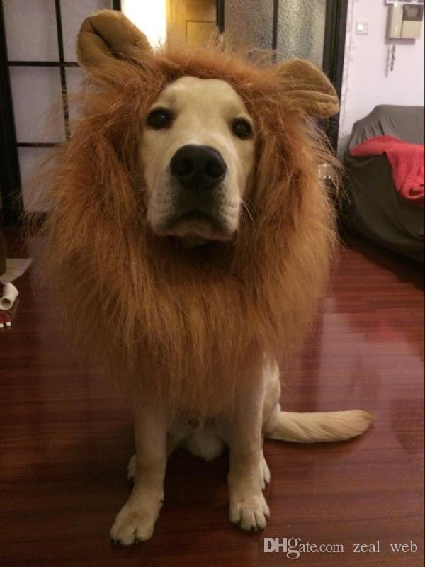 Lion Mane Costume for Dog Lion Wig for dag Fancy Lion Hair for Holiday Photo Shoots Party Festival Occasion