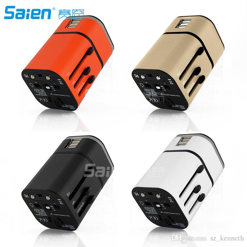 Universal Travel Power Adapter - All in One Worldwide International Wall Charger AC Plug Adaptor For USA EU UK AUS Cell Phone Tablet Laptop