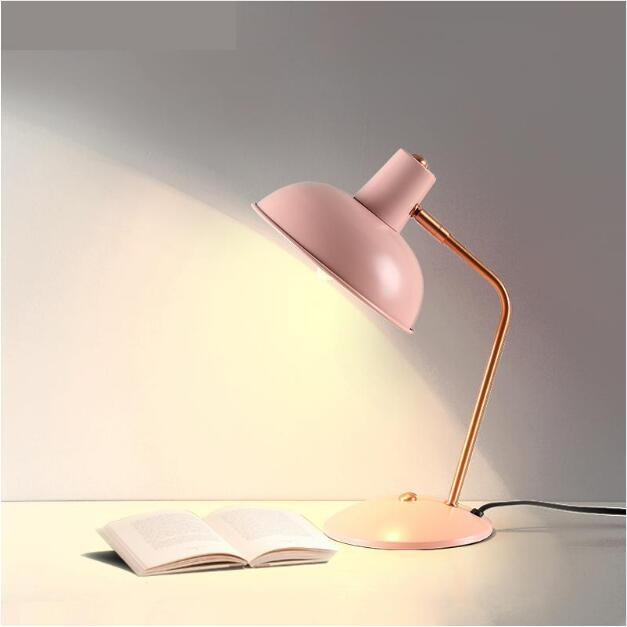 2019 SVITZ Baby Girl Pink Learning Desk Light Office Simple Iron Desk Lamp  Bedroom E14 Table Lamp Student Led Desk Lamp 4 Colours Available From ...