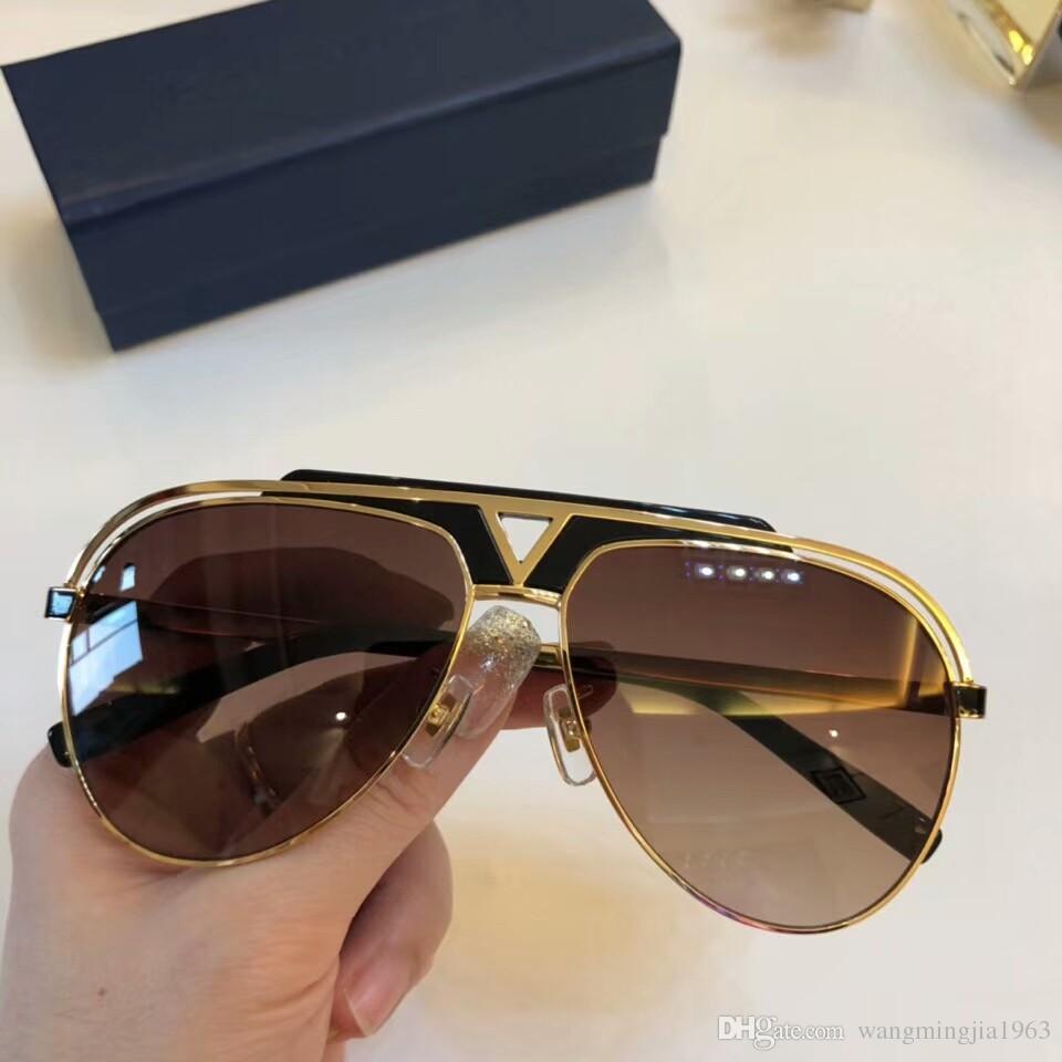 New alta qualidade 1.030 homens óculos de sol homens vidros de sol mulheres óculos de sol estilo de moda protege os olhos Óculos de sol lunettes de soleil com caixa