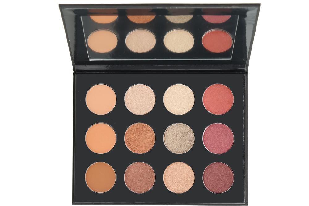 لوحة ظلال العيون من أنطوانيت بيوتي أعلى جودة (صبغة حيادية عالية محايدة × 12 لونًا) مع طبقة لامعة وغير لامعة ونهايات معدنية
