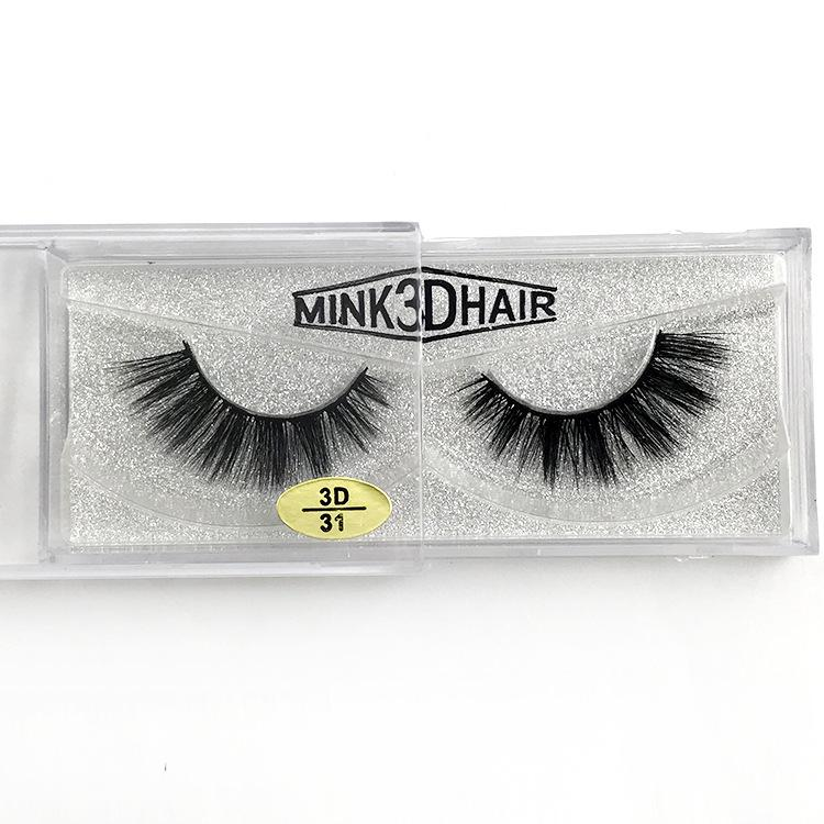 Thick 3D mink lashes natural look handmade reusable false eyelashes makeup accessories soft and vivid mink hair 12 styles availabel DHL Free