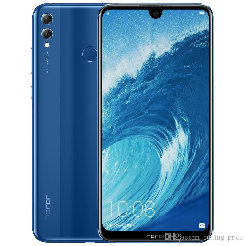 Original Huawei Honor 8X Max 4G LTE Cell Phone 4GB RAM 64GB 128GB ROM Snapdragon 636 Ocra Core 7.12 inch Full Screen 16.0MP OTA Mobile Phone