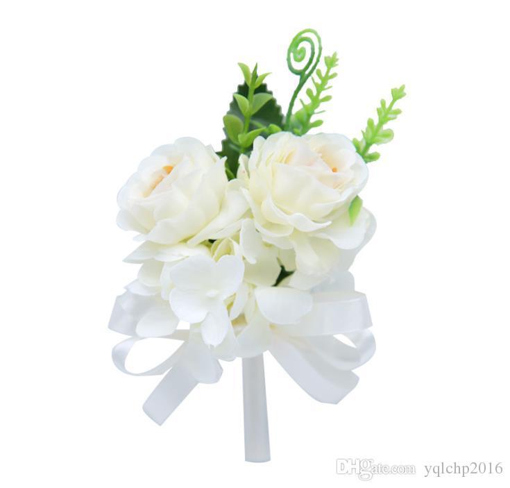 Корейский искусственный цветок брошь пион цветок брошь корейская версия мужской и женской брошь длинные иглы свадьба свадьба Bridal Buotonniere
