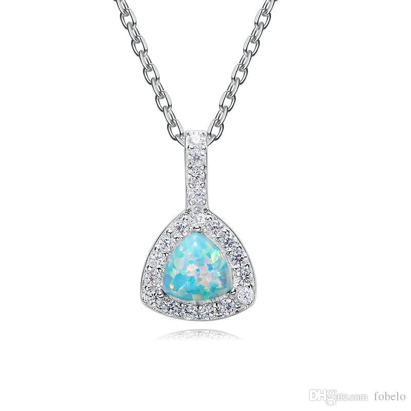 TJP New Austria Crystal Pendant Female 925 Silver Necklace Friendship Elegant Foreign Trade Accessories Jewellery China 2018
