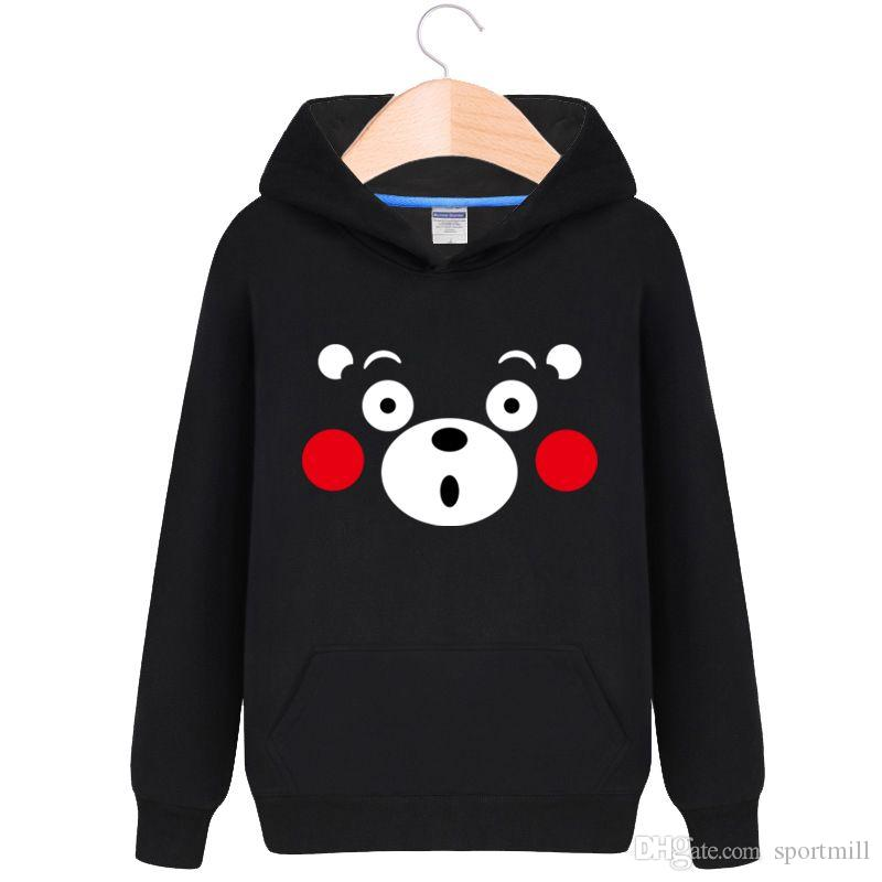 Kumamon hoodies Cute bear sweat shirts Cartoon star fleece clothing Pullover sweatshirts Sport coat Outdoor jackets