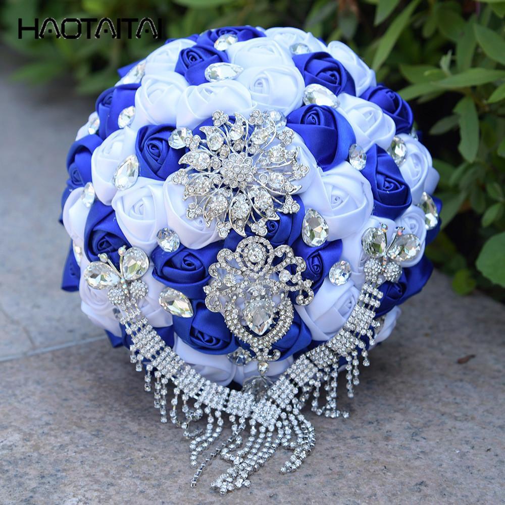 Bouquets de noiva 12 cores Artificial flores do casamento da dama de honra 2018 romântico casamento broche bouquets casamento Accessies