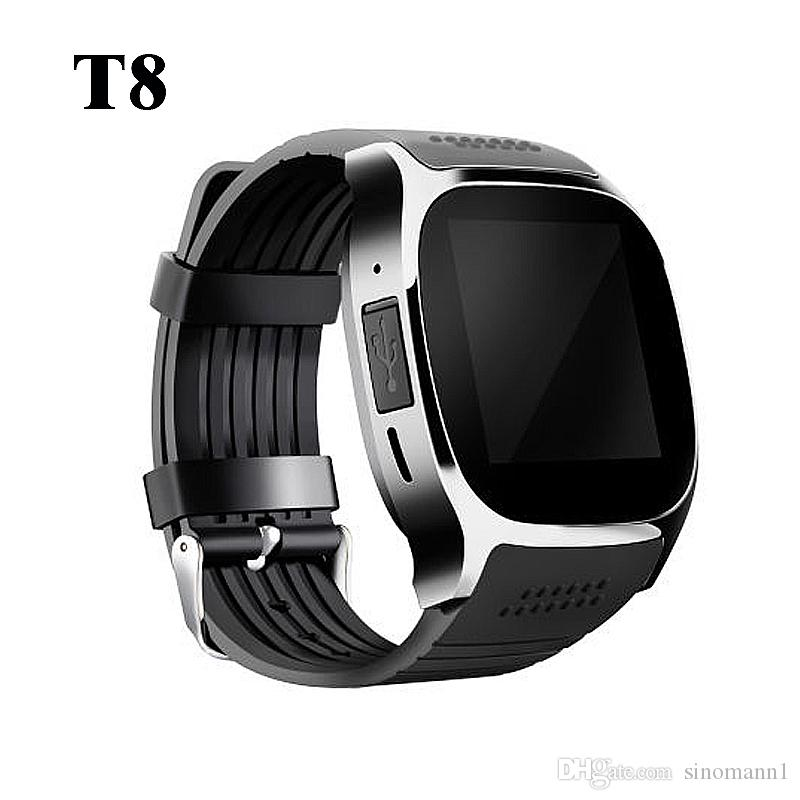 T8 Bluetooth Smart Watch With Camera Music Player Facebook Whatsapp Sync SMS Smartwatch Support SIM TF Card For Android