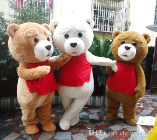 Venda quente Tedy Costume Adult Fur Teddy Bear Mascot Costume