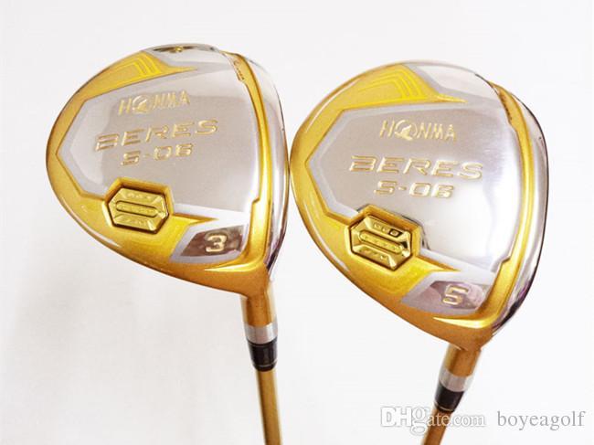 4 Star Golf Clubs Golf Fairway Wood Honma Beres S-06 Fairway Woods #3/#5 R/S Flex ARMRQ Graphite Shaft With Head Cover