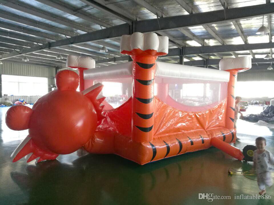 Casa hinchable inflable saltando castillo juguete trampolín utilizado para la diversión interior y exterior para niños