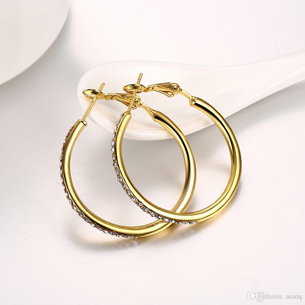 Free Shipping! Luxury Designer Jewelry Hoop Earrings Women Fashion Earrings Micro Zircon Rose Gold/Silver/Gold Earings Jewelry