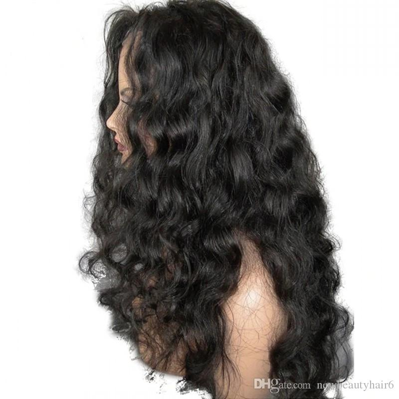 Black Body Wave Synthetic Lace Front Wigs with Baby Hair brown /burgundy /blonde Glueless Long Wavy Hair Synthetic Wigs for Women