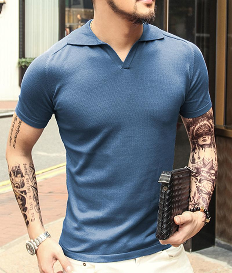 outlet boutique new lifestyle best online 2020 Summer Men Tops Tees Short Sleeve Polo Shirt Men Knit Polo ...