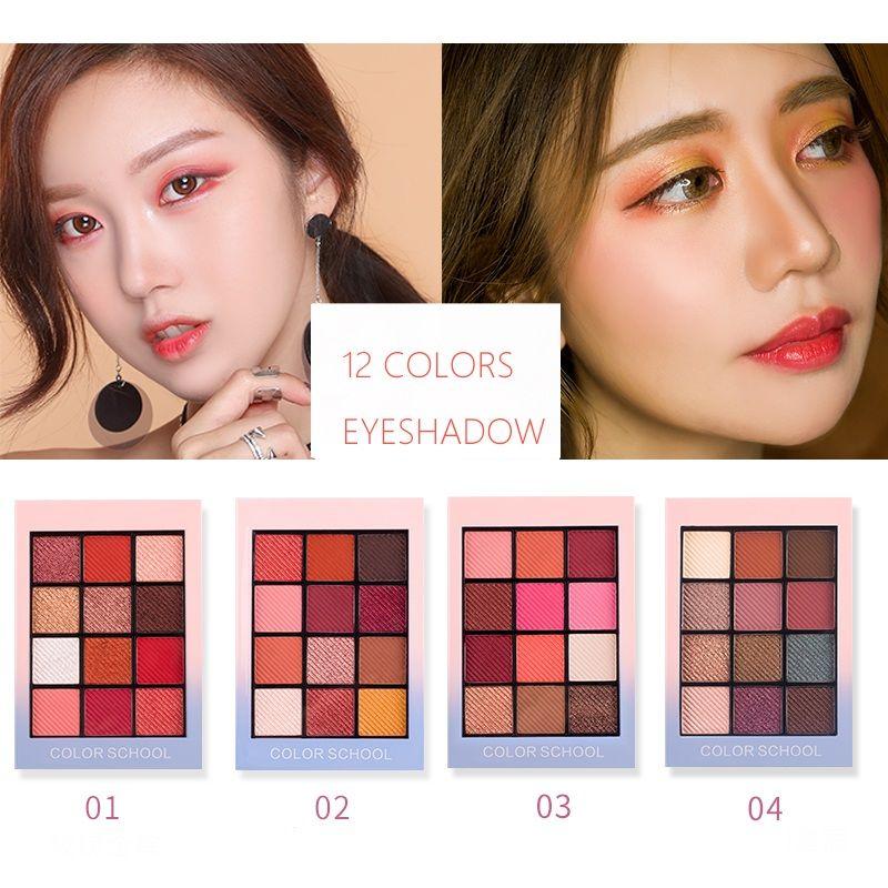 HOLD LIVE Color Focus Show de Charme Vermelho Paleta Da Sombra de Olho Nu Sombras Cosméticos Coreano Maquiagem 12 Cores Pigmento Glitter Sombra