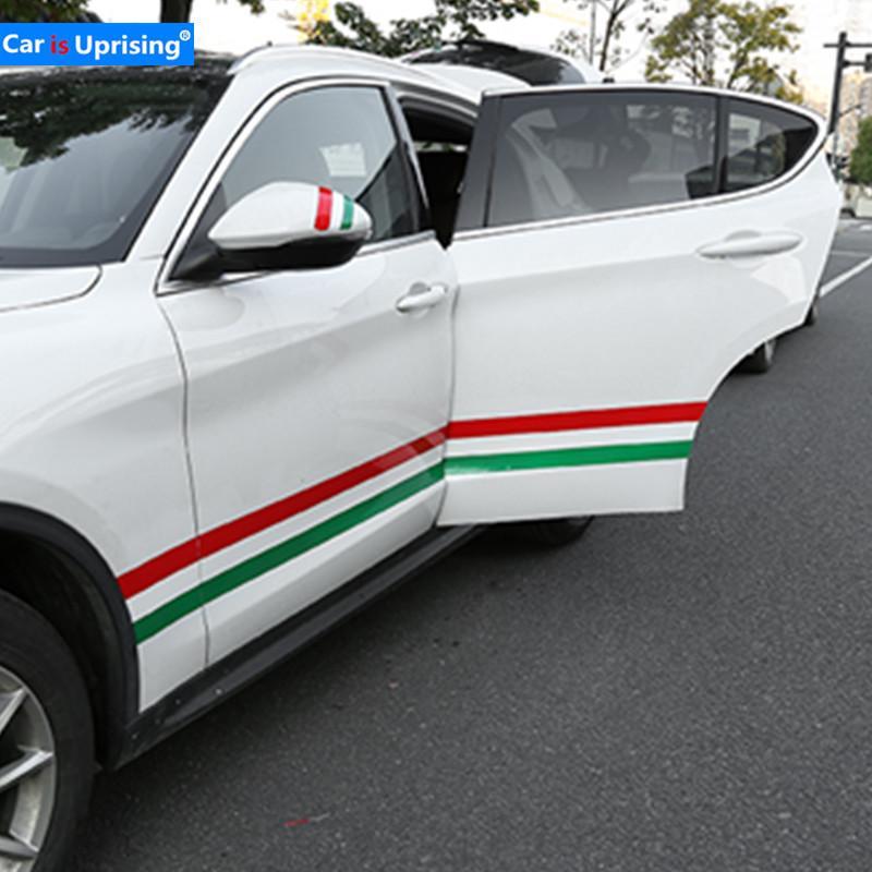 Italien Flagge Racing Emblem white2 Auto lustige Aufkleber PVC Aufkleber Styling f/ür Alfa Romeo Giulietta Giulia Stelvio 147 156 159 166 Mito GT Autozubeh/ör