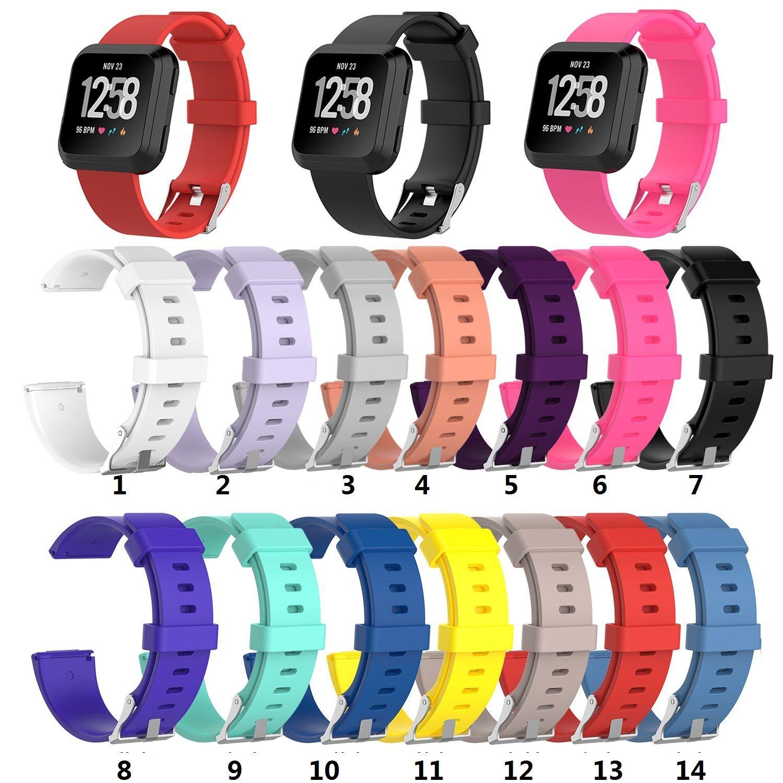 Fitbit Versa 2 1 Versa Lite Yumuşak Silikon TPE Yedek İzle Gruplar Bileklik Bilezik Bant Giyilebilir Kemer kayışı 20PCS / LOT için
