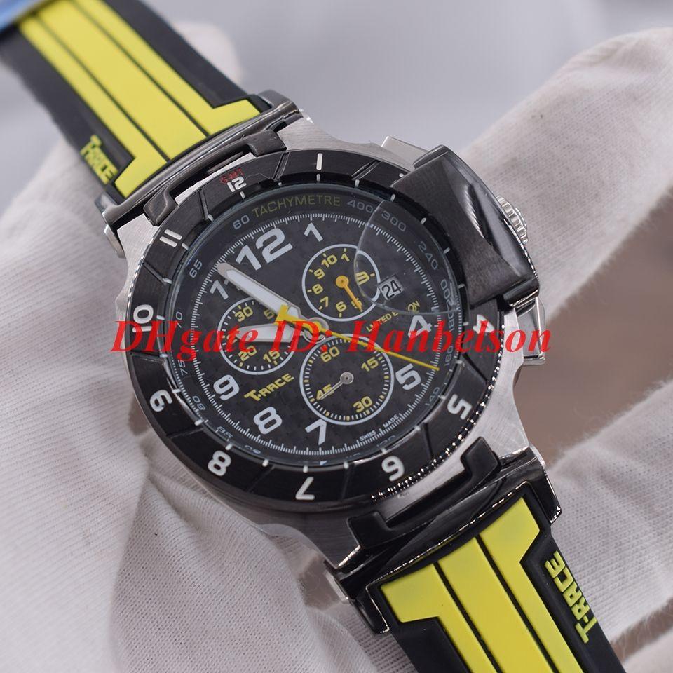 Spor erkek Çok fonksiyonlu Kuvars Hareketi İzle Küçük arama tüm çalışma İZLEME TACHYMETRE Kronometre Sarı siyah lastik bant ...