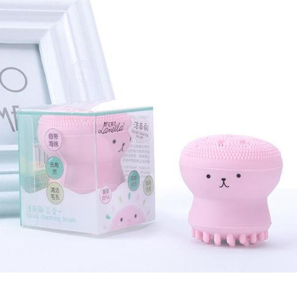 2020 Beauty Face Skin Care Cleaning Tools Cute Octopus Jellyfish Facial Cleansing Brush Facial Puff Massage Exfoliating Wash Tool From Fahome 2 05 Dhgate Com