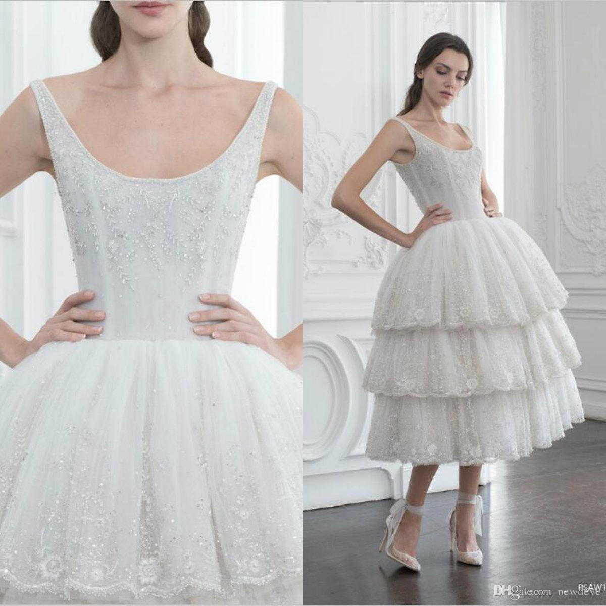 2019 Tiered Polo Sebastian Dresses With Beads Collar Ball Gown Art Deco-inspired Neck Sheer Evening Dresses Ankle Length Formal Party Dress