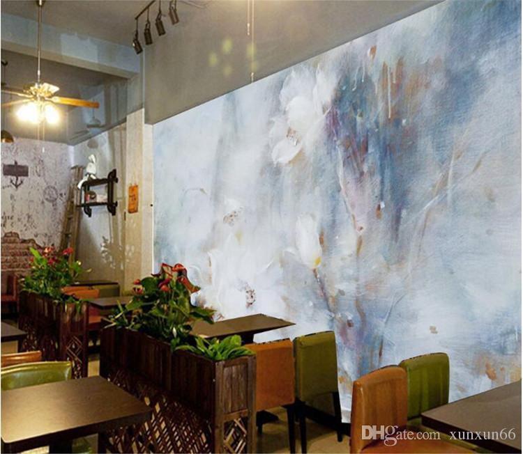 3D фрески обои пользовательские краски абстрактный дизайн Акварель фон Спальня Гостиная настенные росписи Papel De Parede