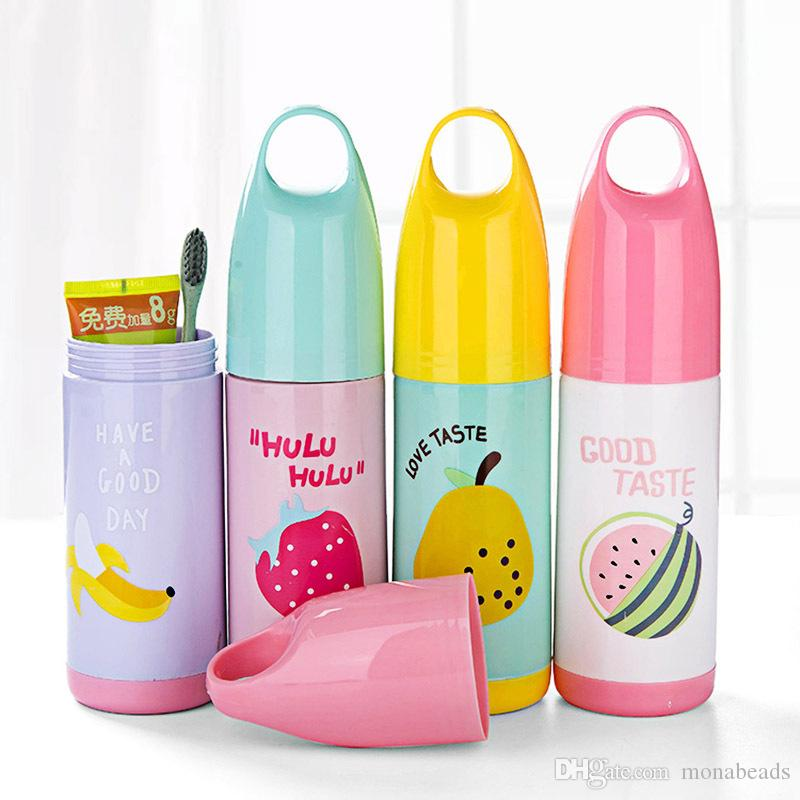 Travel Hiking Camping Plastic Toothbrush Toothpaste Storage Box Holder Case