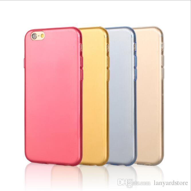 iPhone6 / 6s / 7 / 8 케이스 단색 간단한 휴대 전화 케이스 6p / 7p / Xprotective 쉘 소프트 쉘이 달린 쉘 초박형 및 높은 투명 TPU