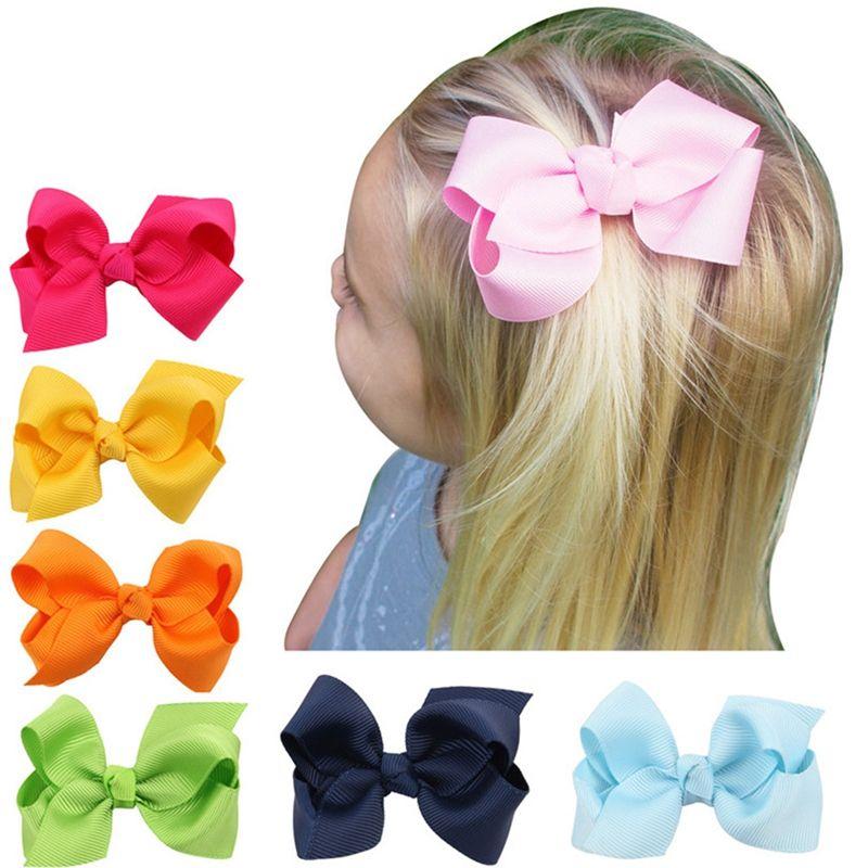 20Pcs/Bag Baby Girls Kids Hair Bow Hairpin Alligator Bowknot Ribbon Clip Grosgrain Cute