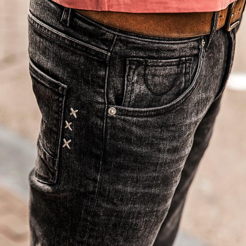 Simwood Sıcak Satış Bahar Yeni Kot Erkekler Ince Pantolon Pantolon Streç Vintage Artı Boyutu Marka Katı Giyim Toptan