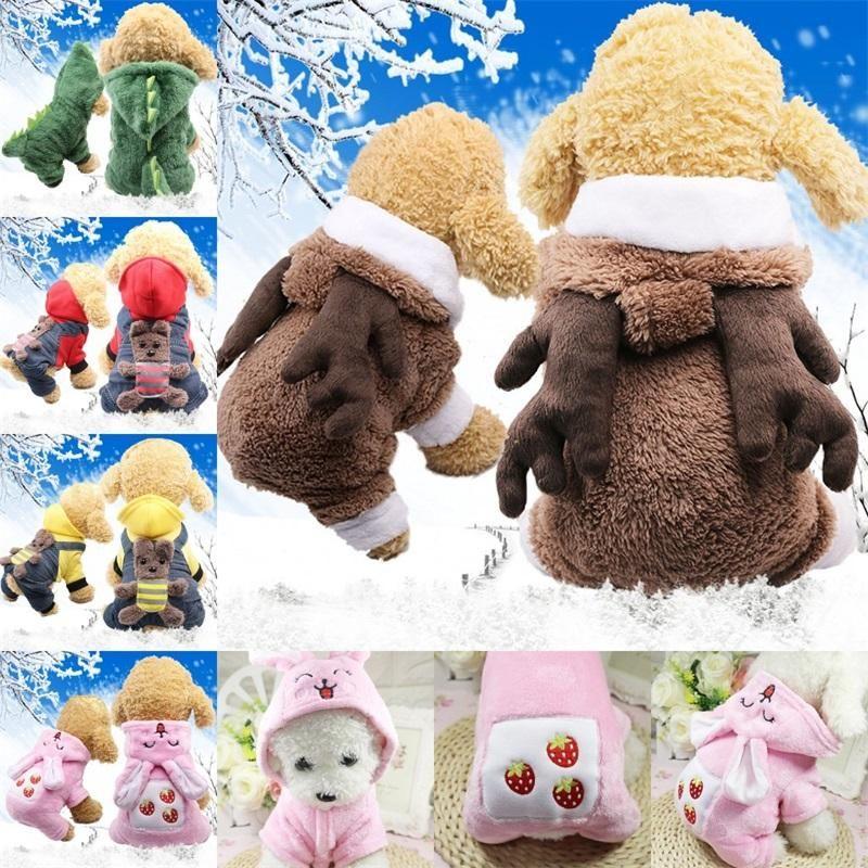 Poodle Cachorro Otoño Invierno Encantadora Ropa Soft Coat Jacket Sweater Ropa de algodón Pet Outerwears Supplies Apparel Moda 15gc ff
