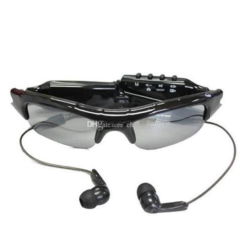 Sunglasses mini camera with MP3 Music Player 720*480 30fps Outdoor Eyewear MINI DVR Digital Video Recorder Glasses Security DV