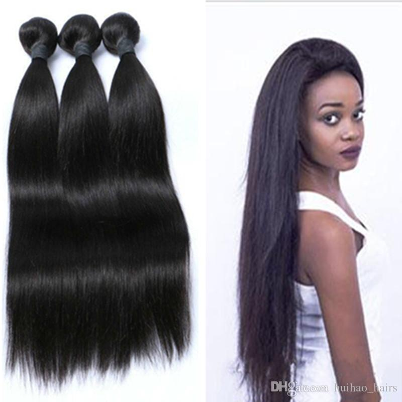 8A Great Quality Human Hair Weave Straight 3 Bundles Cheap Brazilian Peruvian Malaysian Indian Virgin Hair Bundles Free Shipping