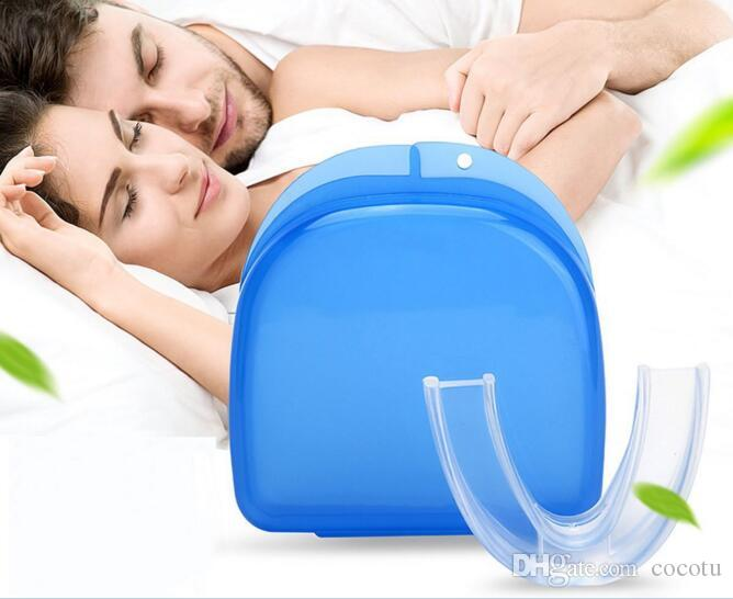 Stop Snoring Solution Anti sonre Mouthpiece Soft Silicone ABS Good Night Sleeping Apnea Guard Bruxism Tray Snoring Cessation