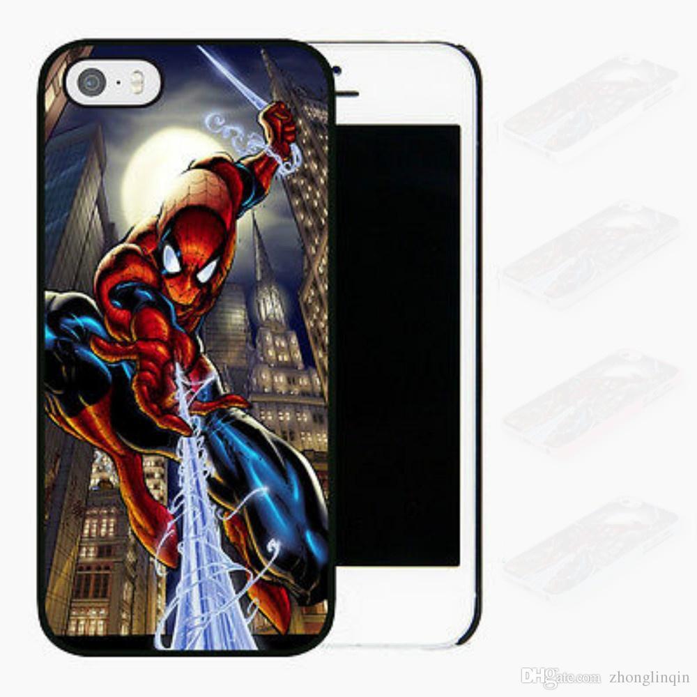 online retailer bbd30 61f82 Design Spiderman Comic Phone Case For Iphone 5c 5s 6s 6plus 6splus 7 7plus  8 8plus Samsung Galaxy S5 S6 S6ep S7 S7ep Custom Leather Cell Phone Cases  ...